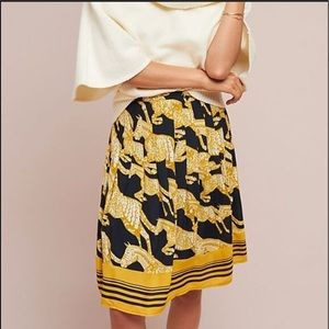 NWT Maeve Anthropologie Jade Horse Skirt